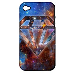 Cosmic Diamond Apple Iphone 4/4s Hardshell Case (pc+silicone) by Contest1775858a
