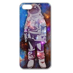 The Astronaut Apple Seamless Iphone 5 Case (clear) by Contest1775858a