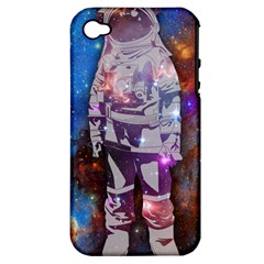 The Astronaut Apple Iphone 4/4s Hardshell Case (pc+silicone)
