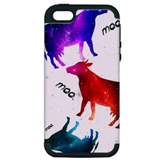 Cowcow   Cow  Apple Iphone 5 Hardshell Case (pc+silicone)