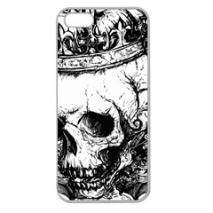 Skull King Apple Seamless Iphone 5 Case (clear) by TheTalkingDead