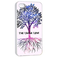 Tree Of Live Laugh Love  Apple Iphone 4/4s Seamless Case (white)