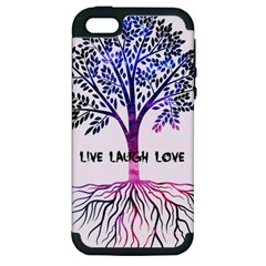 Tree Of Live Laugh Love  Apple Iphone 5 Hardshell Case (pc+silicone)
