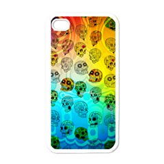Sugary Skulls Apple Iphone 4 Case (white) by TheTalkingDead
