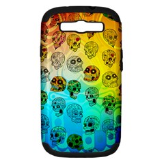 Sugary Skulls Samsung Galaxy S Iii Hardshell Case (pc+silicone) by TheTalkingDead