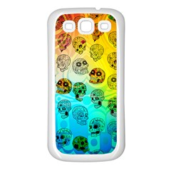 Sugary Skulls Samsung Galaxy S3 Back Case (white) by TheTalkingDead