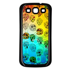 Sugary Skulls Samsung Galaxy S3 Back Case (black) by TheTalkingDead