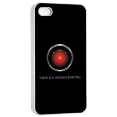 There Is A Message For You  Apple Iphone 4/4s Seamless Case (white) by ContestDesigns