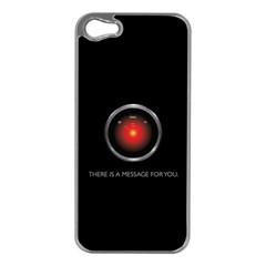 There Is A Message For You  Apple Iphone 5 Case (silver) by ContestDesigns