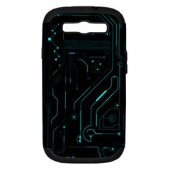 Circuit Board Samsung Galaxy S Iii Hardshell Case (pc+silicone) by TheTalkingDead