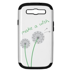 Make A Wish Samsung Galaxy S Iii Hardshell Case (pc+silicone)