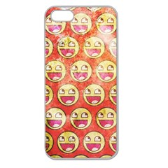 Epic Face Apple Seamless Iphone 5 Case (clear) by Contest1775858