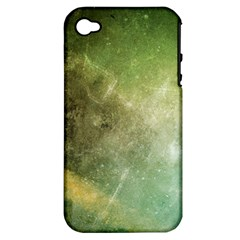 Green Grunge Apple Iphone 4/4s Hardshell Case (pc+silicone)