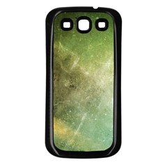 Green Grunge Samsung Galaxy S3 Back Case (black)