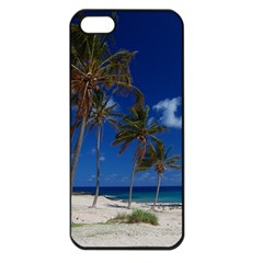 Relaxing On The Beach Apple Iphone 5 Seamless Case (black)