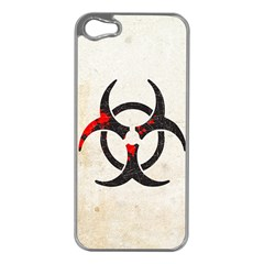 Biohazard Symbol Apple Iphone 5 Case (silver) by Contest1775858