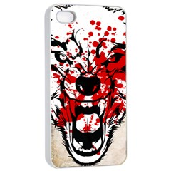 Blood Wolf Apple Iphone 4/4s Seamless Case (white)