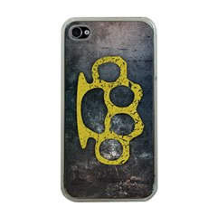 Brass Knuckles Apple Iphone 4 Case (clear)