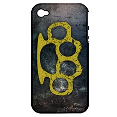 Brass Knuckles Apple Iphone 4/4s Hardshell Case (pc+silicone)