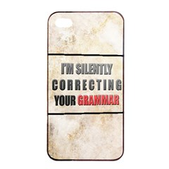 Silently Correcting Your Grammar Apple Iphone 4/4s Seamless Case (black)