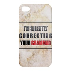 Silently Correcting Your Grammar Apple Iphone 4/4s Hardshell Case by Contest1775858