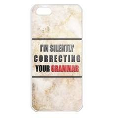 Silently Correcting Your Grammar Apple Iphone 5 Seamless Case (white)