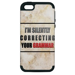 Silently Correcting Your Grammar Apple Iphone 5 Hardshell Case (pc+silicone)
