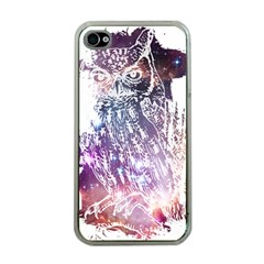 Cosmic Owl Apple Iphone 4 Case (clear) by Contest1775858