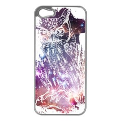 Cosmic Owl Apple Iphone 5 Case (silver)