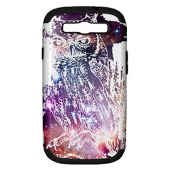 Cosmic Owl Samsung Galaxy S Iii Hardshell Case (pc+silicone) by Contest1775858