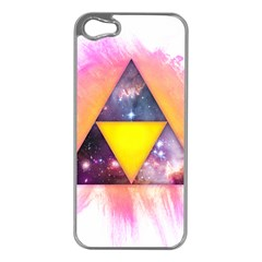 Cosmic Triple Triangles Apple Iphone 5 Case (silver)