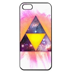 Cosmic Triple Triangles Apple Iphone 5 Seamless Case (black)