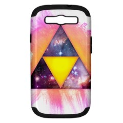Cosmic Triple Triangles Samsung Galaxy S Iii Hardshell Case (pc+silicone)