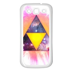 Cosmic Triple Triangles Samsung Galaxy S3 Back Case (white) by Contest1775858