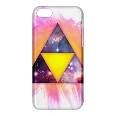 Cosmic Triple Triangles Apple Iphone 5c Hardshell Case by Contest1775858