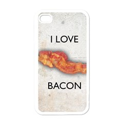 I Love Bacon Apple Iphone 4 Case (white)
