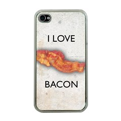 I Love Bacon Apple Iphone 4 Case (clear)