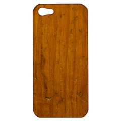 Dark Wood Apple Iphone 5 Hardshell Case