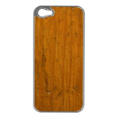 Dark Wood Apple Iphone 5 Case (silver)