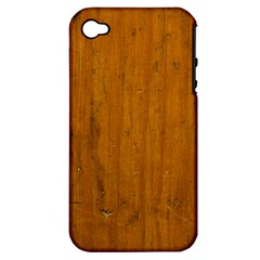 Dark Wood Apple Iphone 4/4s Hardshell Case (pc+silicone) by Contest1775858