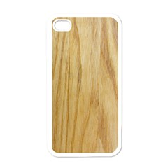 Light Wood Apple Iphone 4 Case (white)