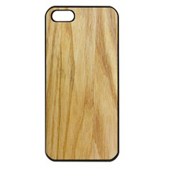 Light Wood Apple Iphone 5 Seamless Case (black)