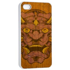 Demon Apple Iphone 4/4s Seamless Case (white) by Contest1775858