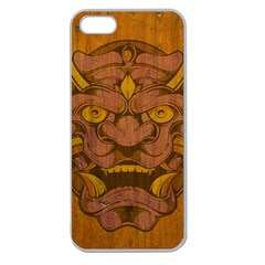 Demon Apple Seamless Iphone 5 Case (clear) by Contest1775858
