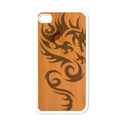 Tribal Dragon Apple Iphone 4 Case (white)