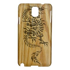 Tribal Dragon On Wood Samsung Galaxy Note 3 N9005 Hardshell Case