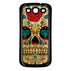 Sugar Skull Samsung Galaxy S3 Back Case (black) by Contest1775858