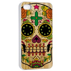 Sugar Skull Apple Iphone 4/4s Seamless Case (white) by Contest1775858