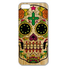 Sugar Skull Apple Seamless Iphone 5 Case (clear) by Contest1775858