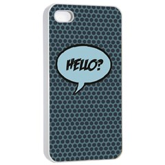 Hello Apple Iphone 4/4s Seamless Case (white) by PaolAllen2
